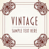 Dekorative vintage-rahmen — Stockvektor