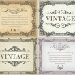 Set of vintage frame — Stock Vector