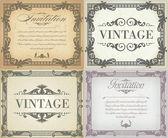 Set of vintage frame — Stock Vector