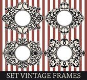 Set vintage ramar — Stockvektor