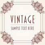 Decorative Vintage Frame — Stock Vector #17453797