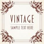 Decorative Vintage Frame — Stock Vector #18417921