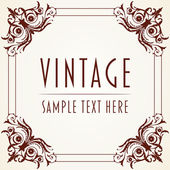 Decorative Vintage Frame — Vetorial Stock