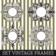 Set vintage frames - Stockvektor