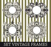 Set vintage frames — Stock Vector