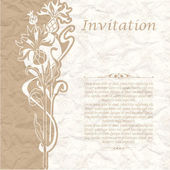 Vintage background for the invitation with flowers — Vector de stock