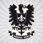 Heraldic coat of arms — Stock Vector