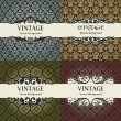 Set of vintage vector background - Stock Vector