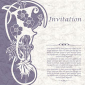 Vintage background for the invitation with flowers — Stockvektor