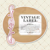 étiquette vintage — Vecteur