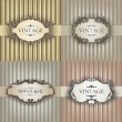 Set vintage frames - Stock Vector