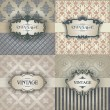 Set vintage frames — Vector de stock