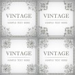 Set of decorative frame in the style of vintage - Stock Vector