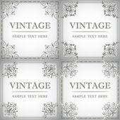 Set of decorative frame in the style of vintage — Stock Vector