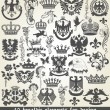Set of heraldic elements for design — Stock Vector #24039455