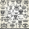 Set of heraldic elements for design - Stock Vector