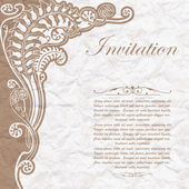 Vintage background for the invitation with flowers — Stock Vector