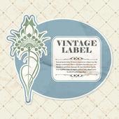 Vintage label — Stock Vector