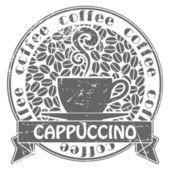 Timbre de café — Vecteur