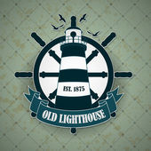 Vintage label with a nautical theme — Stock Vector