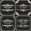 Set of vector vintage background - Stock Vector