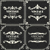 Set of vector vintage background — Stock Vector