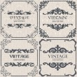 Stock Vector: Set of vector vintage background
