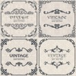 Set of vector vintage background — Imagen vectorial