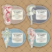 Set of vintage label — Stock Vector