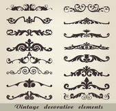 Vintage decorative elements — Cтоковый вектор
