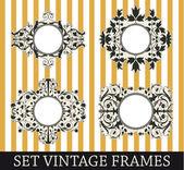 Set vintage frames — Stockvector