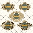 Set of vintage frame with crown — Stock Vector #29565155