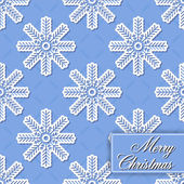 Background seamless from snowflakes for Merry Christmas — Stock Vector