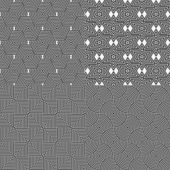Set of geometric background seamless — Vettoriale Stock