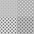 Set of vector seamless pattern — Stockvectorbeeld