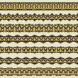 Vintage border set for design  — Vettoriali Stock