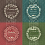 Set of vintage background for invitations — Stock Vector
