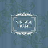 Background with a pattern vintage style with frame — Vector de stock