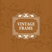 Background with a pattern vintage style with frame — Cтоковый вектор