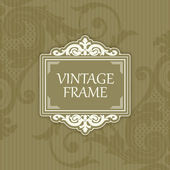 Background with a pattern vintage style with frame — Stock Vector