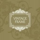 Hintergrund mit einer muster-vintage-stil mit rahmen — Stockvektor