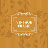 Background with a pattern vintage style with frame — Stockvector