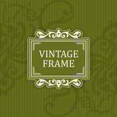 Background with a pattern vintage style with frame — Stok Vektör
