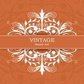 Vintage davetiye — Stok Vektör