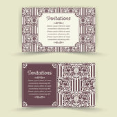 Set of floral invitation cards. — Stock Vector