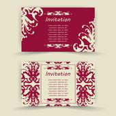 Tarjetas de invitación floral. — Vector de stock