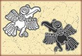Ornamento en el estilo de los mayas — Vector de stock