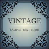 Decorative frame in the style of vintage — Stock Vector