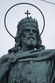 Szent isvan - praça dos heróis - budapeste — Fotografia Stock