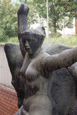 Nude Female Statue - Communist Monument - Memento Park - Budapest — Stock Photo